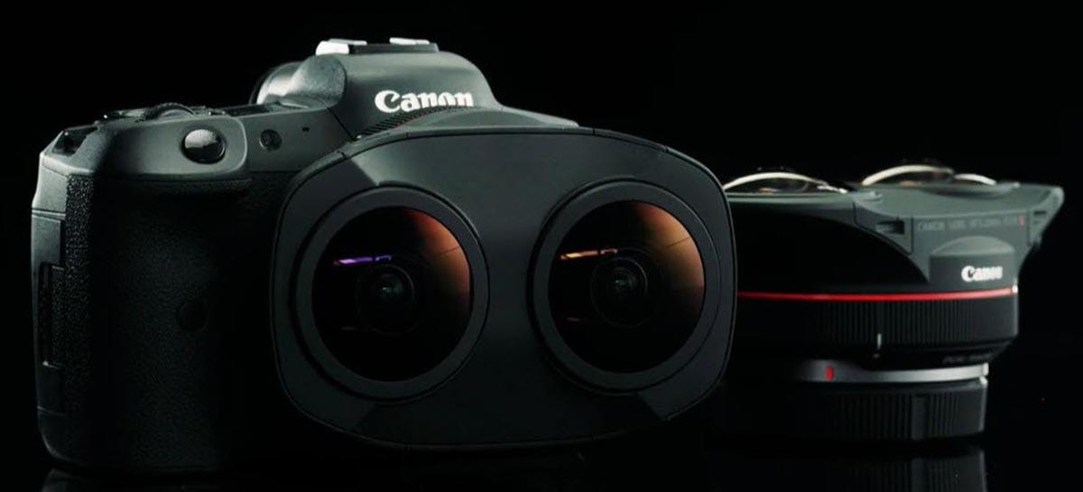 Canon anunciou sua nova lente com duas entradas olho de peixe