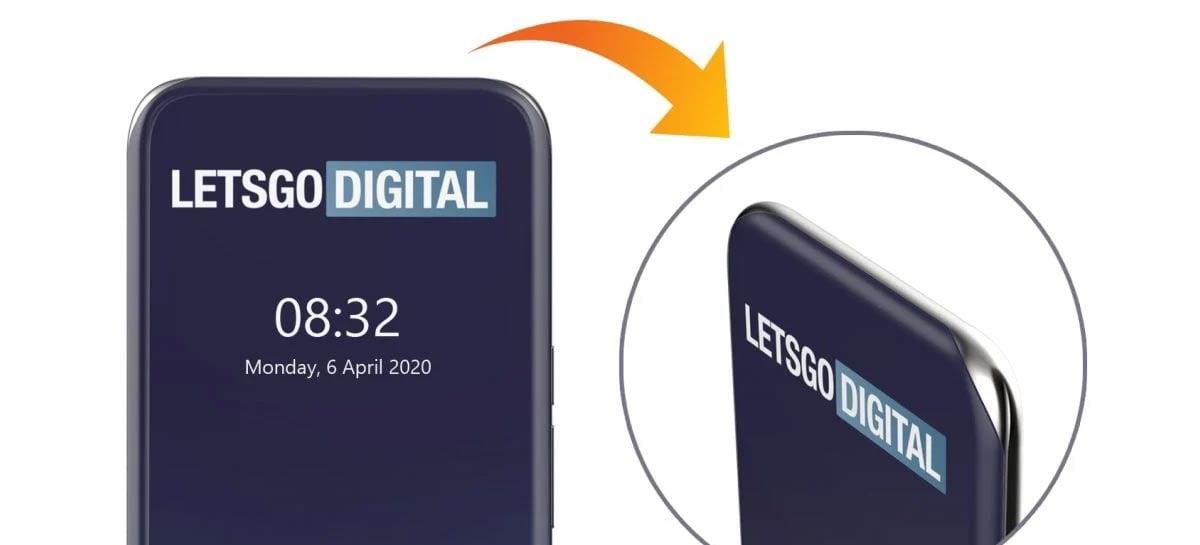 Samsung registra design de celular com tela curva