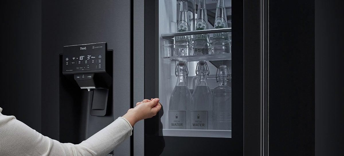 Nova linha de geladeiras InstaView da LG abre suas portas com comando de voz