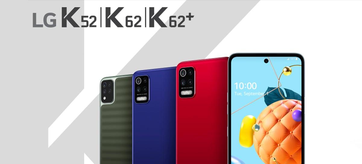 LG lança novos smartphones K52, K62 e K62+ com novo acabamento a partir de R$ 1.499