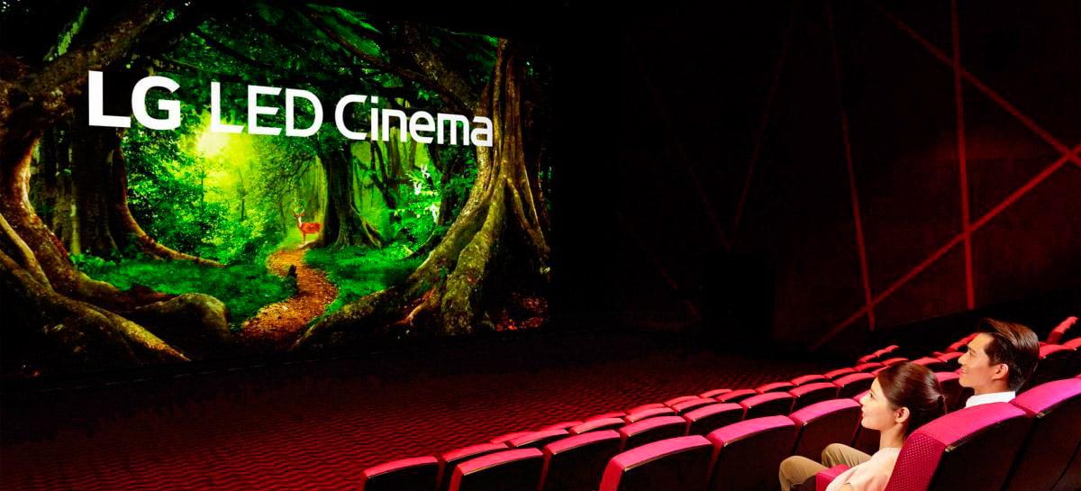 LG cria primeira tela de cinema inteira feita com display LED, sem projetores
