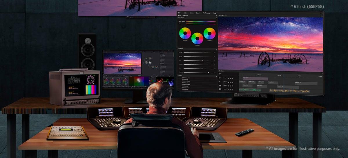 LG apresenta monitor profissional 4K UltraFine OLED Pro 65EP5G