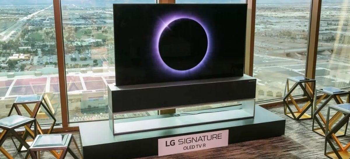TV enrolável LG Signature Series OLED TV RX custará US$ 60.000