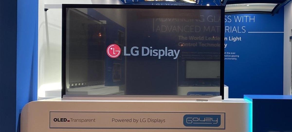 LG revela TV com tela transparente adaptável para ambientes muito claros