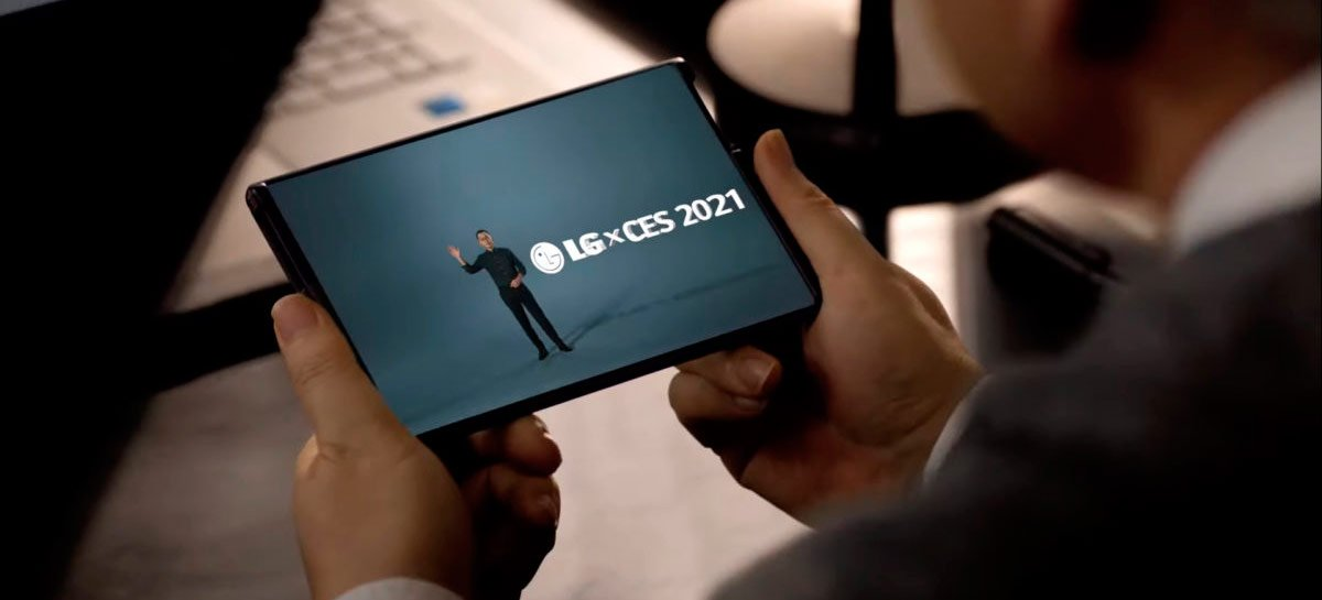 """LG mostra teaser de seu celular """"enrolável"""" na CES 2021: o LG Rollable"""