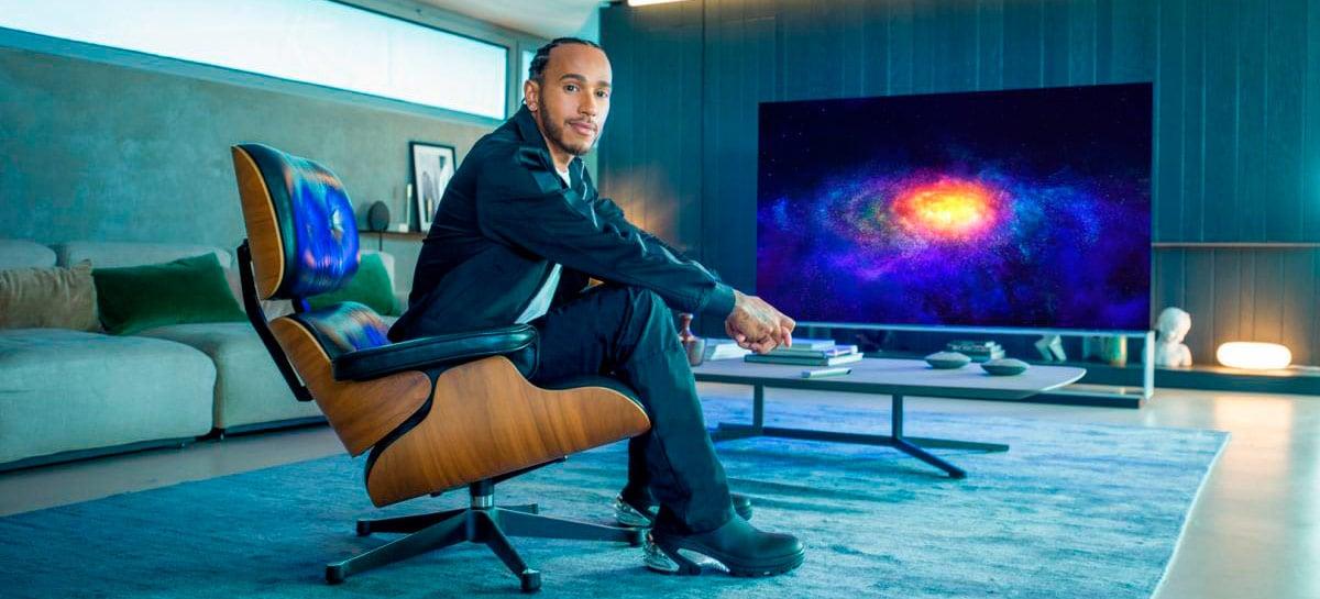 Lewis Hamilton é o novo garoto propaganda da linha de produtos premium da LG