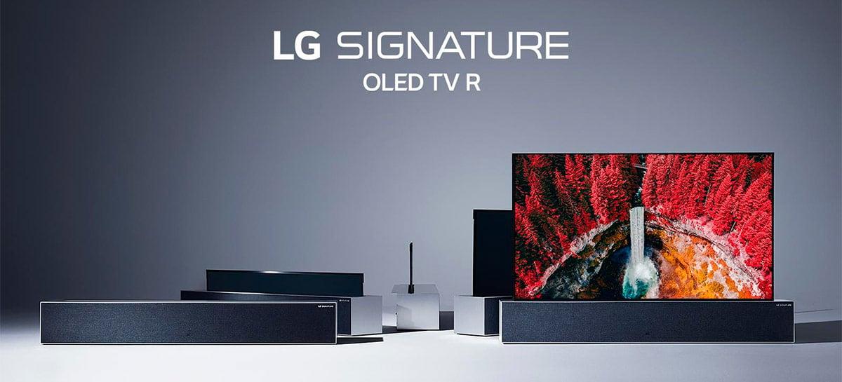 """LG começa a vender sua TV """"enrolável"""" de 65'' por US$ 87.000 na Coreia do Sul"""