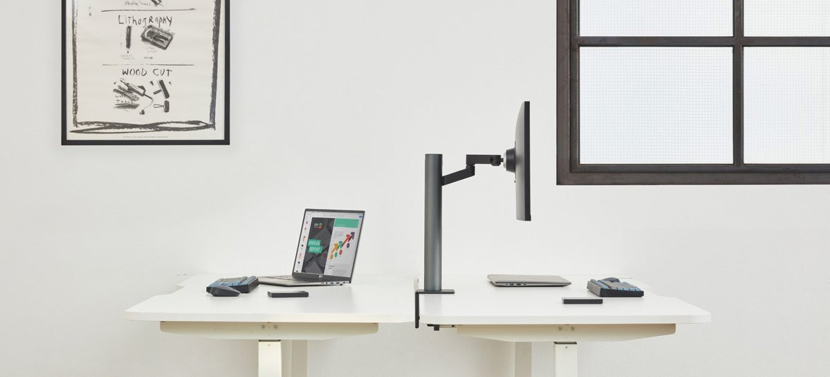 Novo monitor UltraFine de 4K da LG se destaca com haste incrivelmente articulada