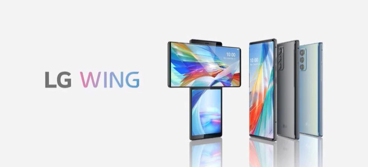 LG anuncia o LG Wing, seu novo celular com tela giratória e Snapdragon 765G