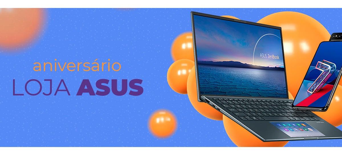Loja da ASUS faz aniversário e tem promoções de notebooks e smartphones