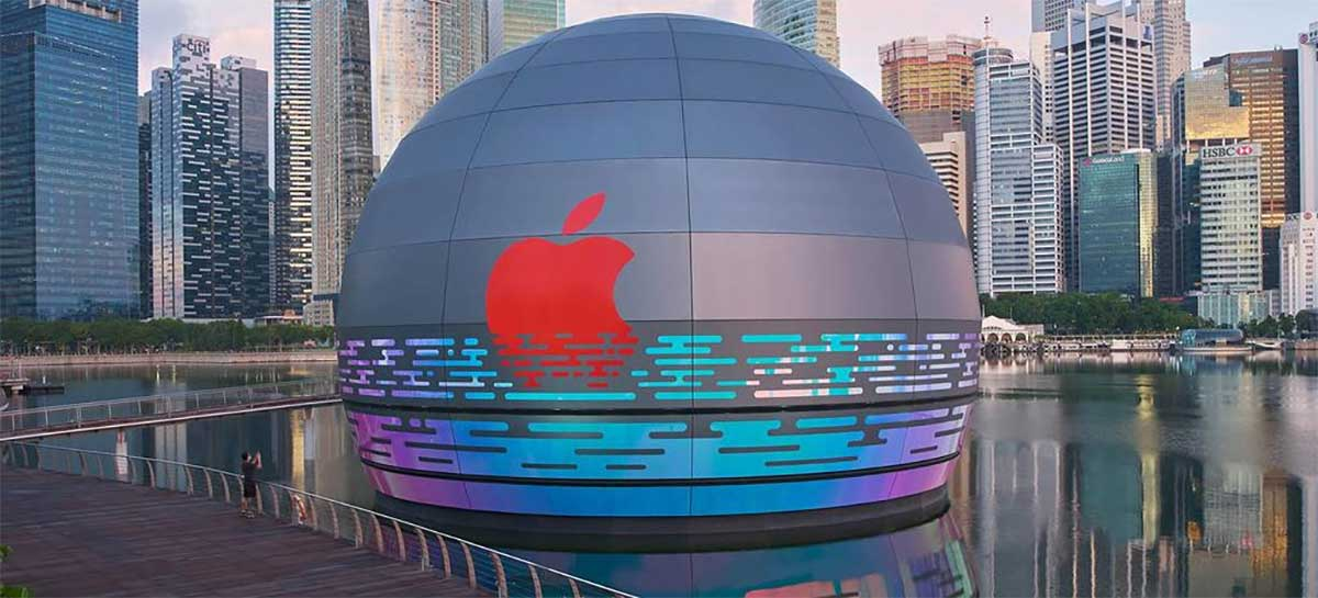 Loja flutuante da Apple em Cingapura será inaugurada em breve; veja fotos