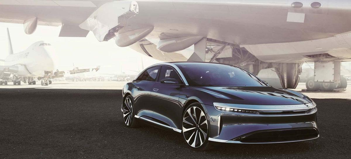 Lucid diz ter carro elétrico com carregamento mais rápido do mercado