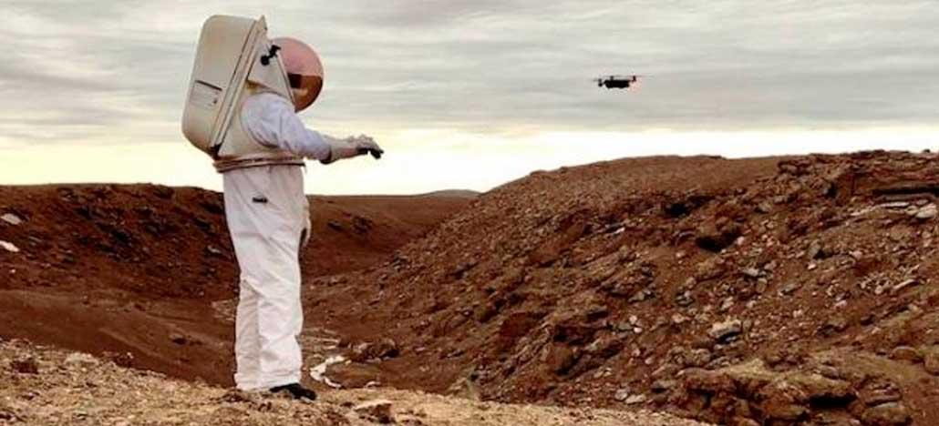 Luva inteligente permitirá o controle de drones por gestos em Marte