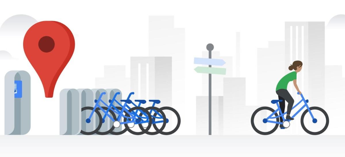 Google Maps agora pode mostrar locais de bicicletas compartilhadas