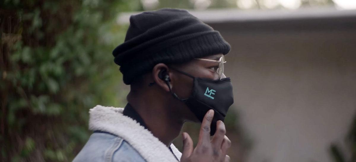 MaskFone é uma mascara facial de US$ 43 que traz fone bluetooth integrado