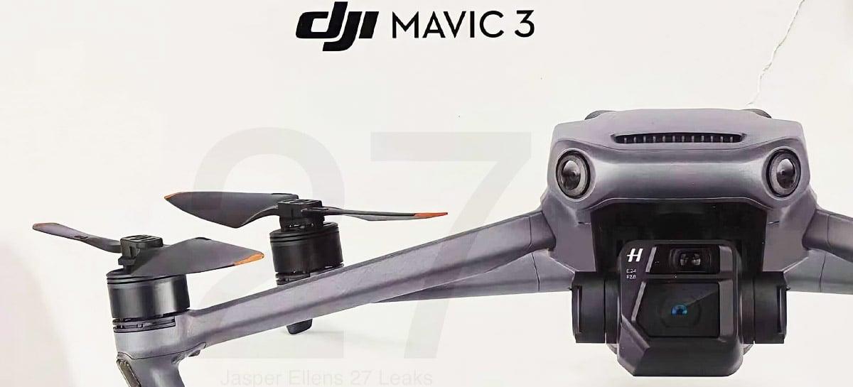 O melhor da DJI: Drone Mavic 3 tem várias imagens confirmando seu design