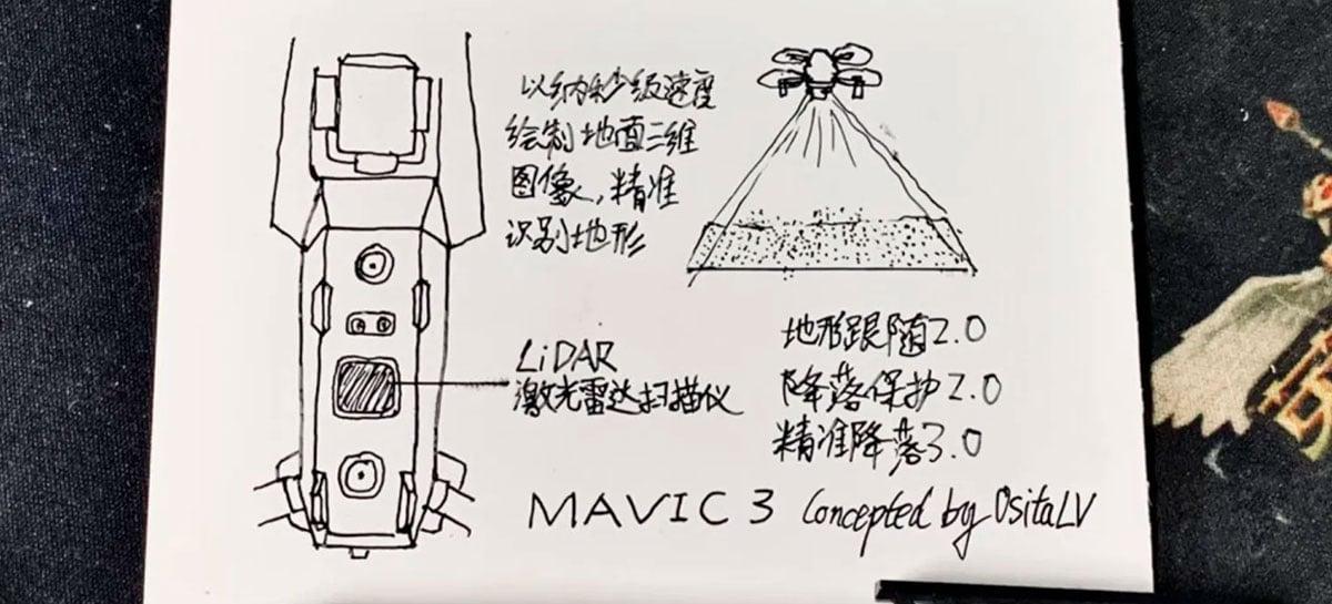 Mavic 3 pode chegar com sensor Lidar [RUMOR]