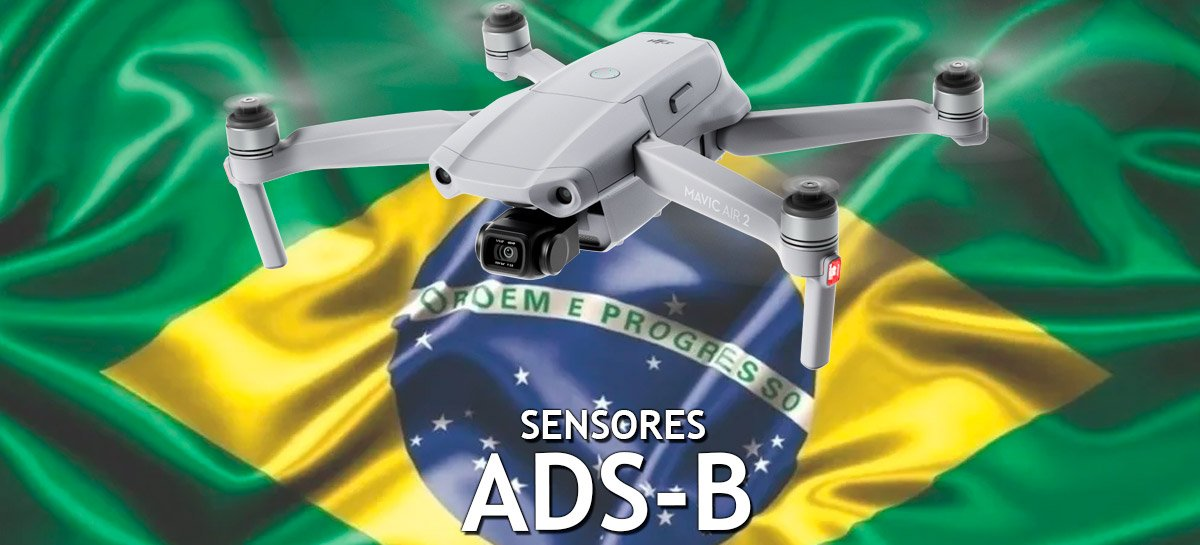 """Drone Mavic Air 2 """"brasileiro"""" terá sensor ADS-B que detecta aviões e helicópteros"""