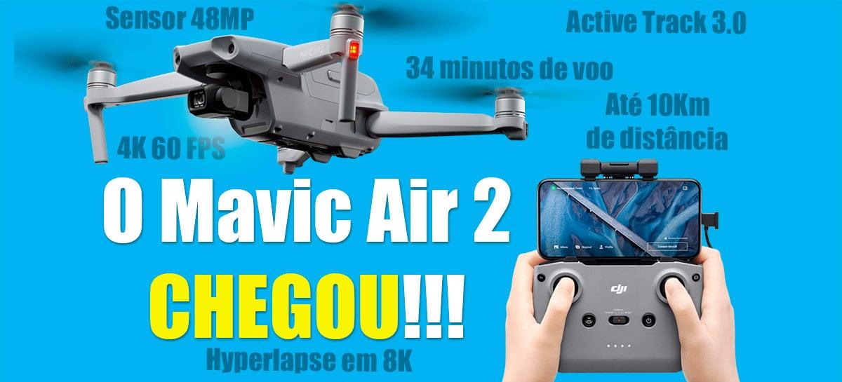Mavic Air 2 é INCRÍVEL - Câmera 48MP, 4K 60FPS, 34 Min, 10 km e muito mais