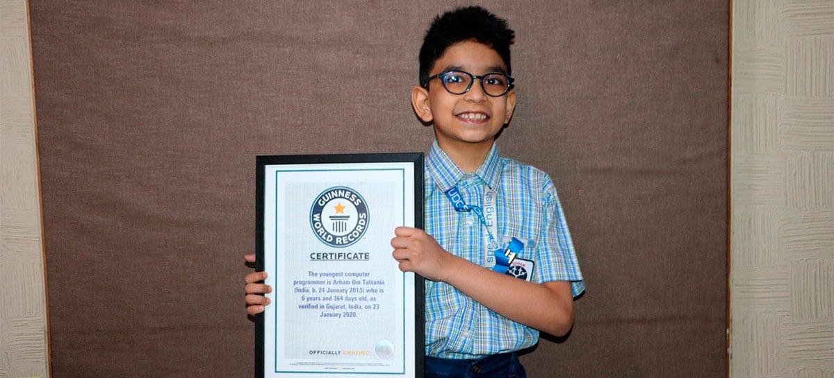 Menino de seis anos entra no Guinness como programador mais jovem do mundo