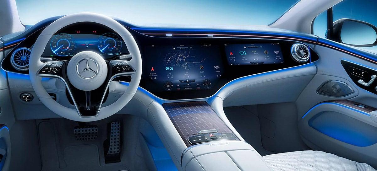Mercedes mostra interior de seu carro elétrico EQS: o painel inteiro é uma tela