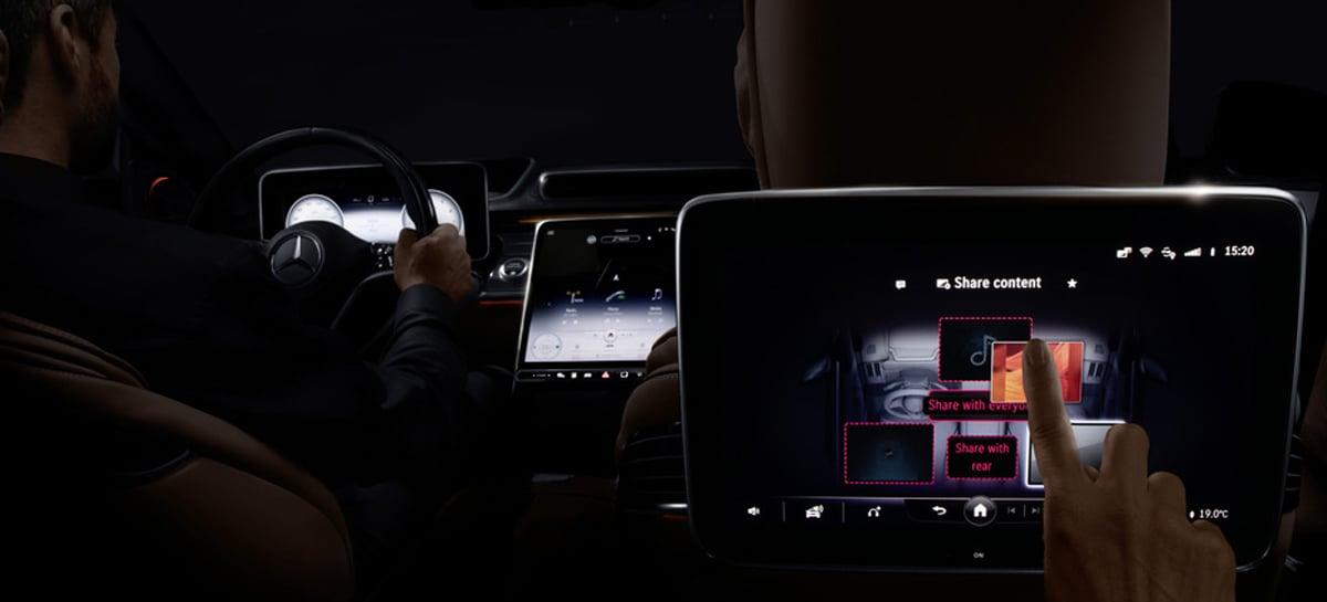 Novos controles touchscreen da Mercedes eliminam 27 botões físicos
