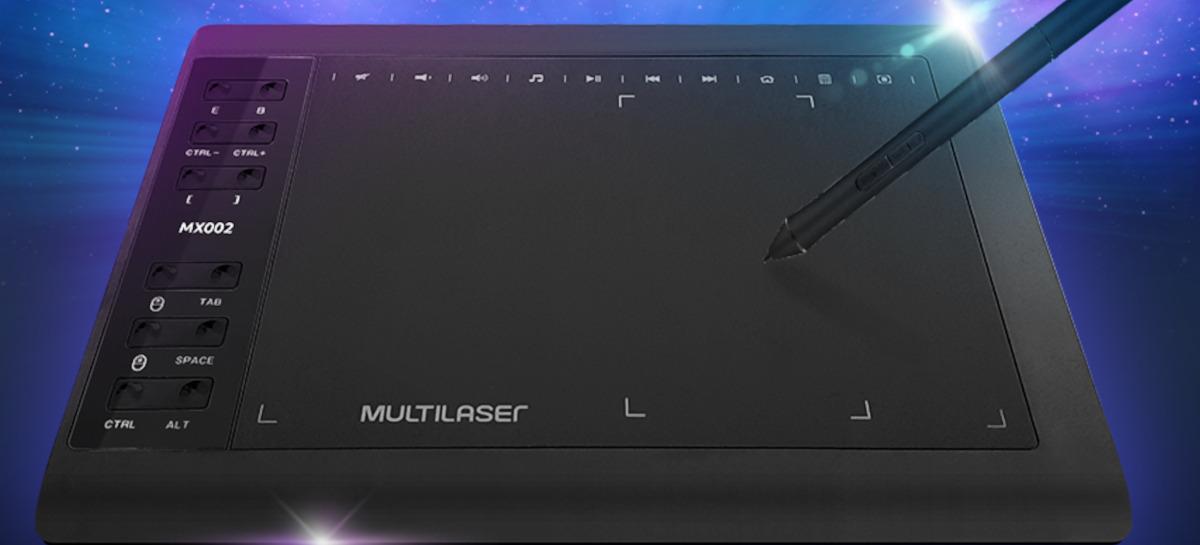Multilaser lança mesas digitalizadoras Criativa Slim e Plus para uso básico e avançado