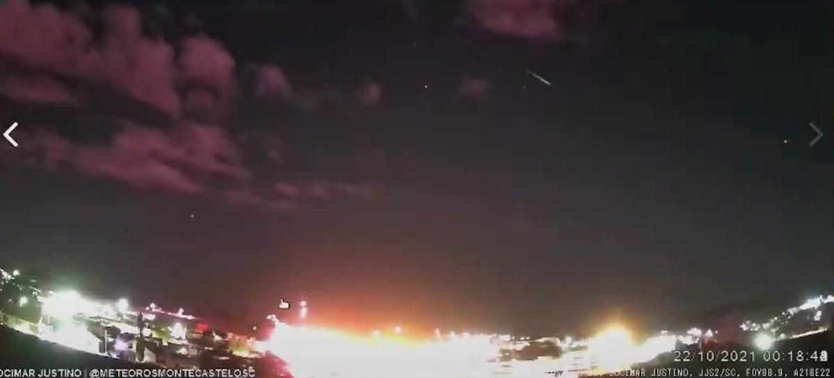 Veja imagens incríveis da chuva de meteoros Oriônidas que aconteceu em Santa Catarina