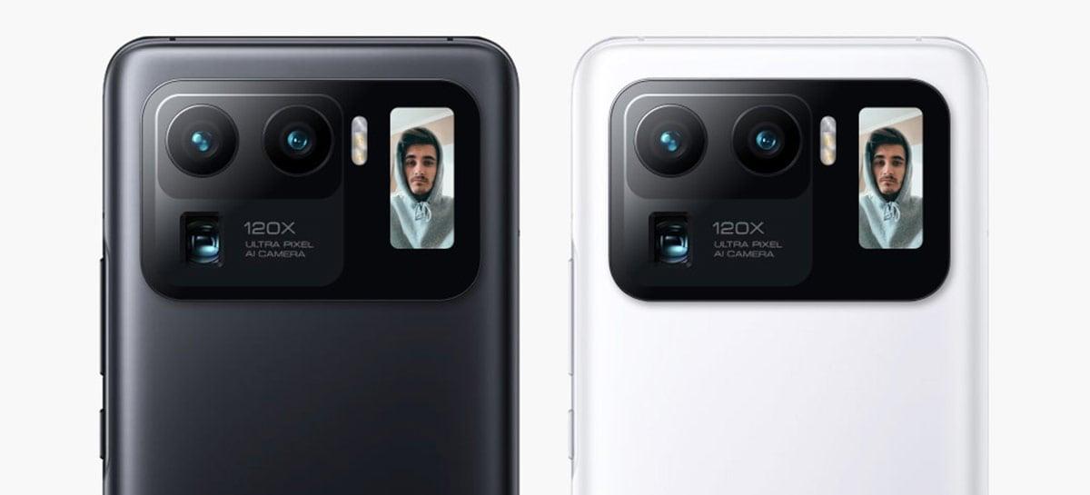 Xiaomi Mi 11 Pro também deve ter display ao lado das câmeras, assim como o Ultra