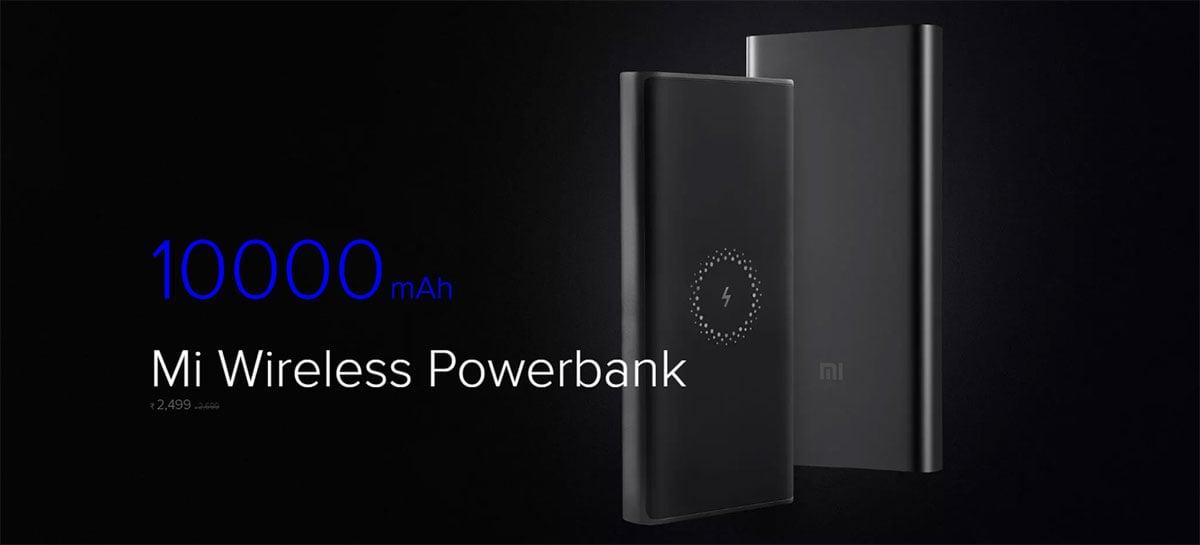 Xiaomi lança power bank de 10000mAh com carregamento sem fio