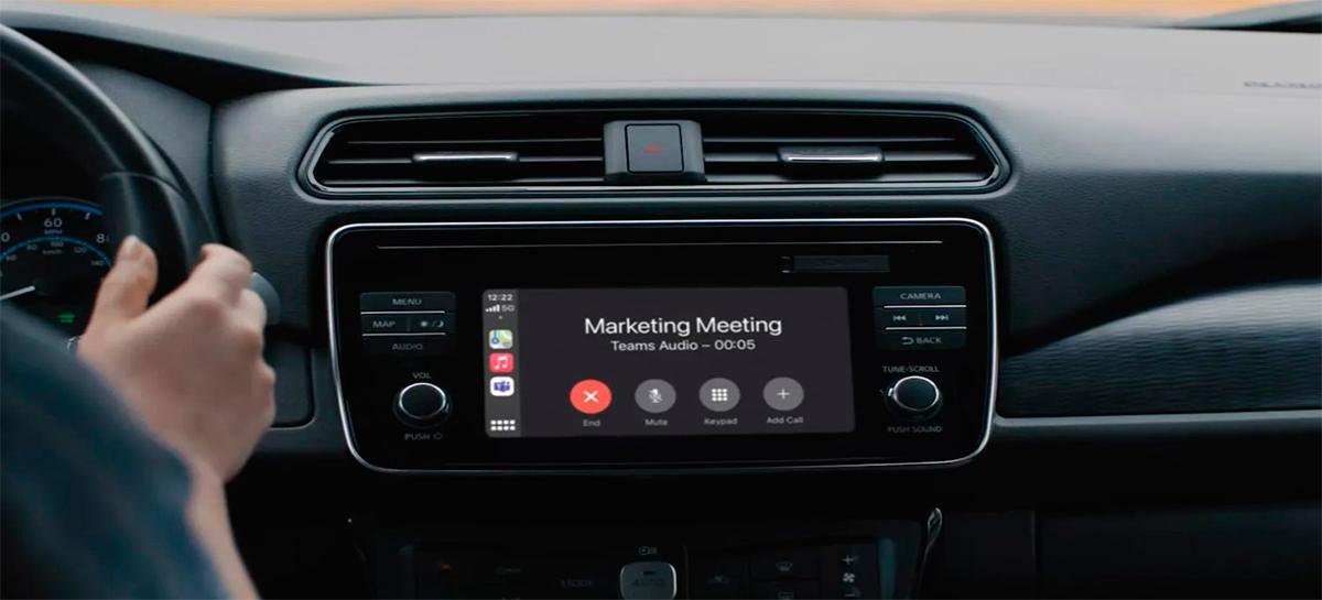 Microsoft Teams terá integração com o CarPlay para que você participe de reuniões enquanto dirige