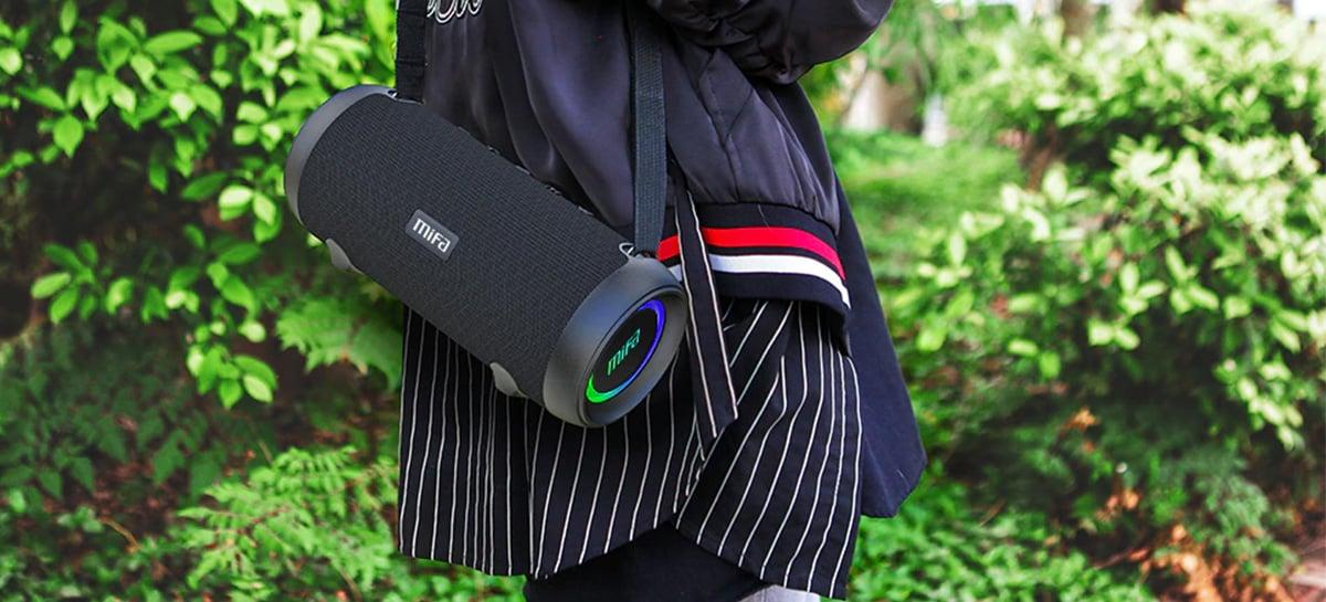 Caixas de som portáteis MIFA entregam boa qualidade e PREÇO BAIXO com até 68% OFF