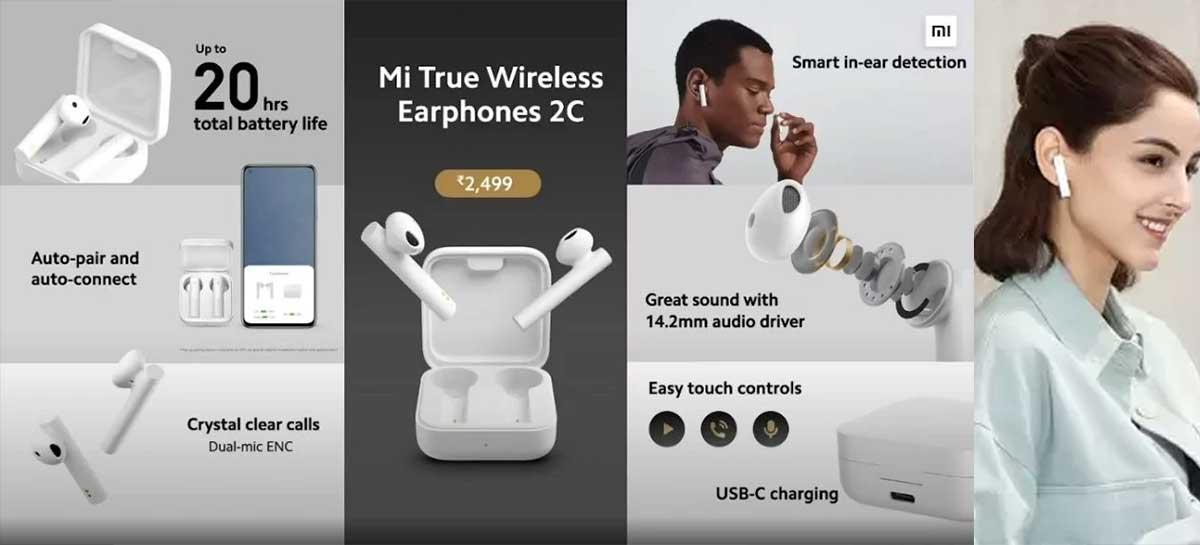 Xiaomi lança seus fones de ouvido Mi True Wireless Earbuds 2C