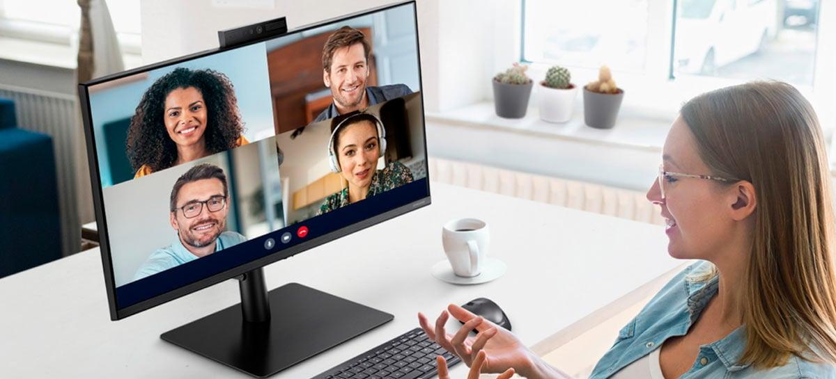 Samsung anuncia monitor de 24 polegadas com webcam integrada