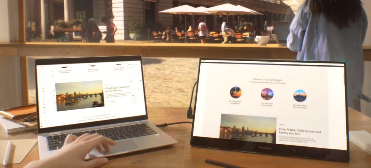 Novos monitores portáteis da ViewSonic já estão disponíveis