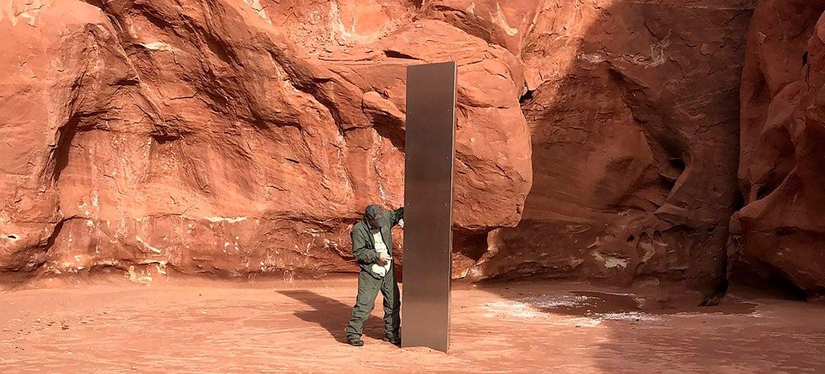 Objeto no deserto de Utah gera teorias de ser obra de aliens ou de artista misterioso