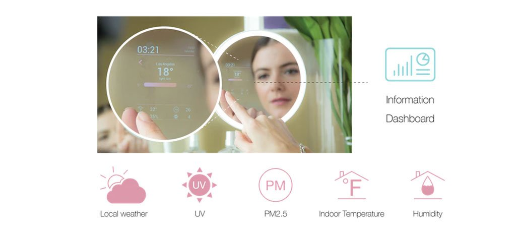 Espelho inteligente MORROR mostra tutoriais e dá dicas de maquiagens