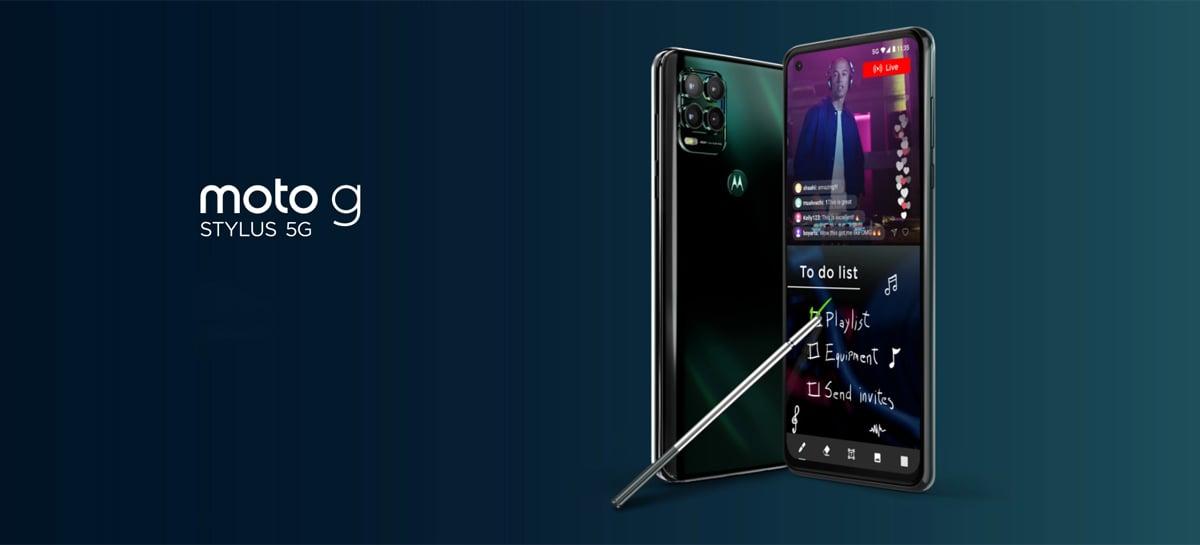 Novo Motorola Moto G Stylus 5G traz o chip Snapdragon 480 e câmera de 48MP