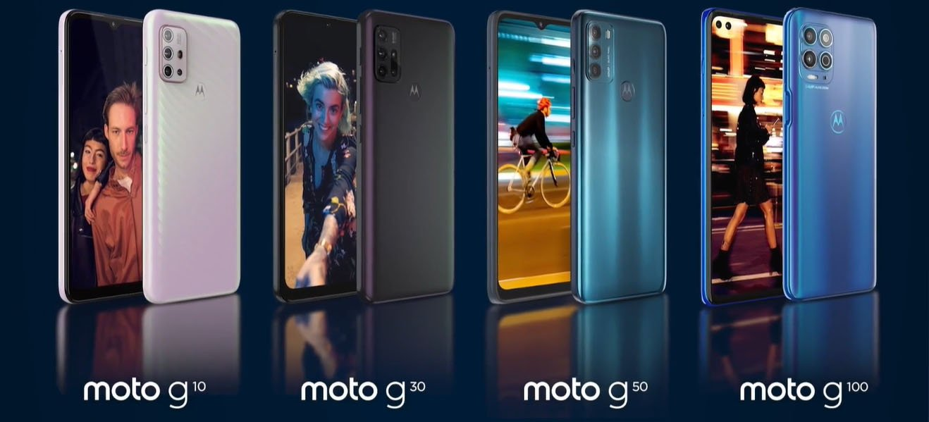 Motorola lança novos aparelhos Moto G10, G30 e G50 com Snapdragon, quatro câmeras e Ready For