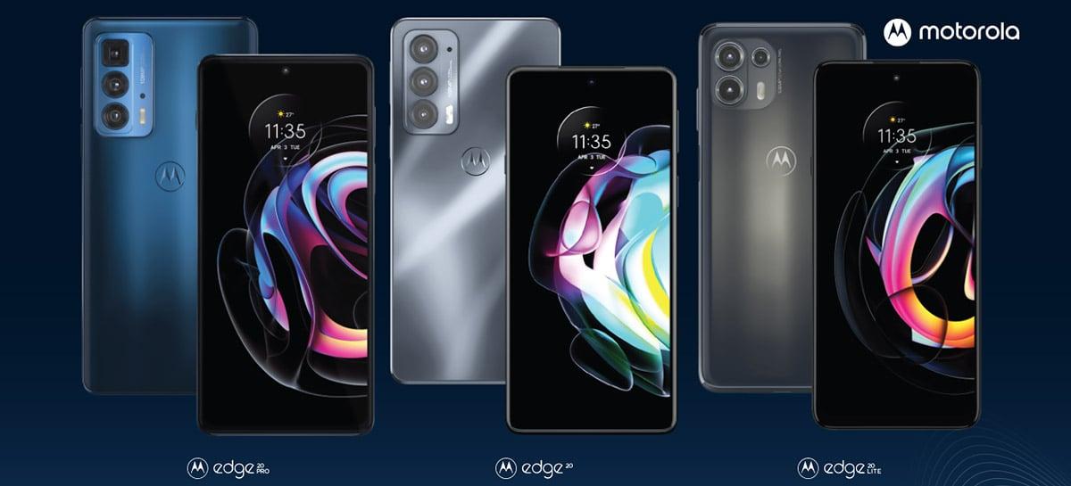 Intermediários Motorola Edge 20, 20 Pro e 20 Lite são anunciados - Veja detalhes completos