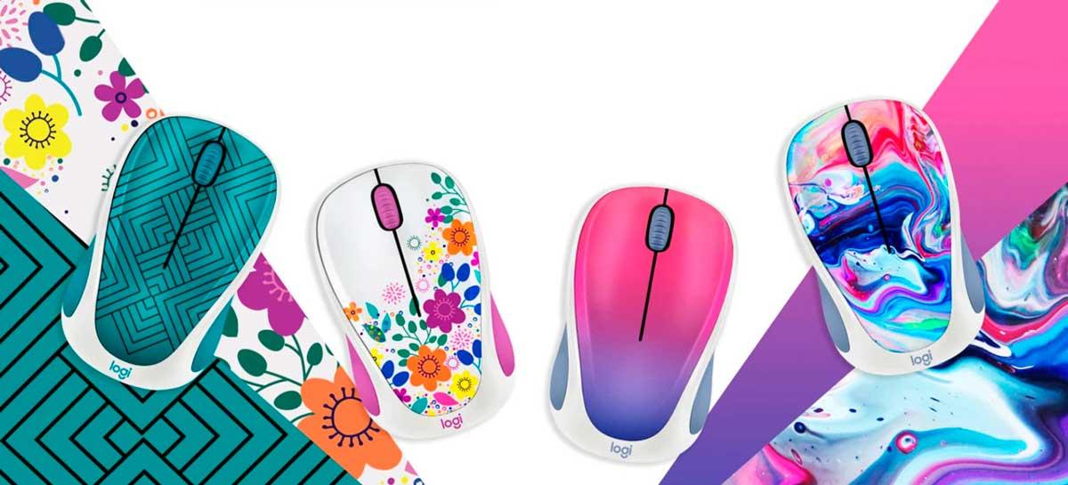 Logitech apresenta mouses sem fioDesign Collection
