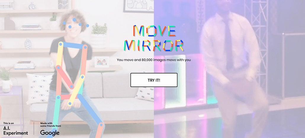 Google lança Move Mirror, uma experiência de IA