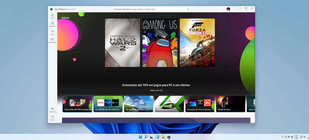Microsoft Store do Windows 11 não atualizará apps Win32 instalados através dela