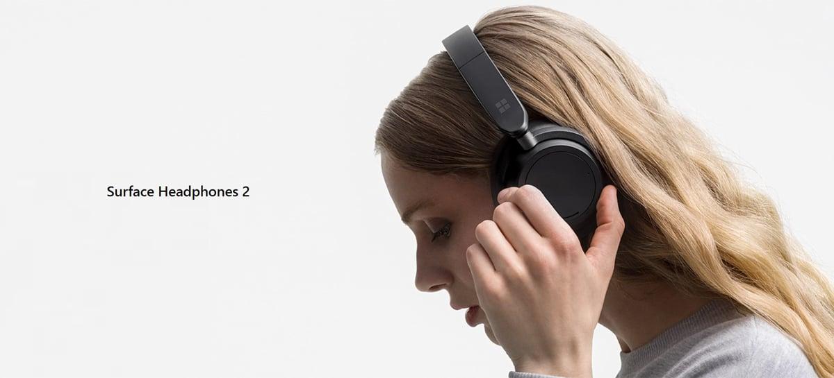 Novo Microsoft Surface Headphones 2 traz bateria com autonomia de até 20 horas