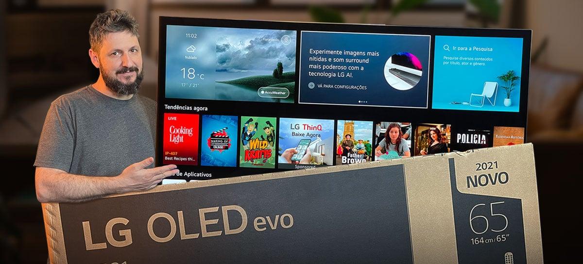 "Unboxing da TV LG OLED G1 de 65"" (OLED EVO)"