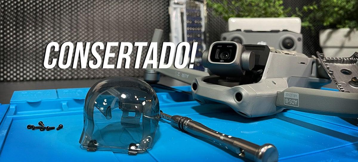 Drone DJI Air 2S QUEBRADO foi CONSERTADO - Veja processo, dúvidas e testes