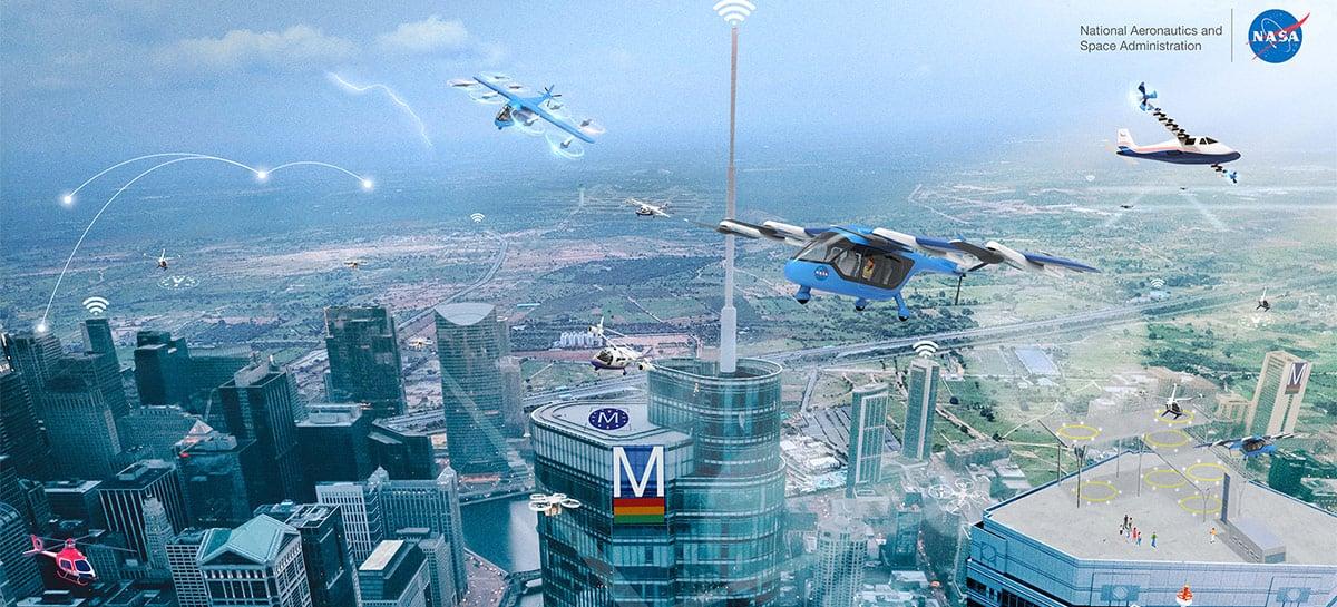 NASA vai ajudar 5 estados dos EUA na criação de drones táxi e de entrega