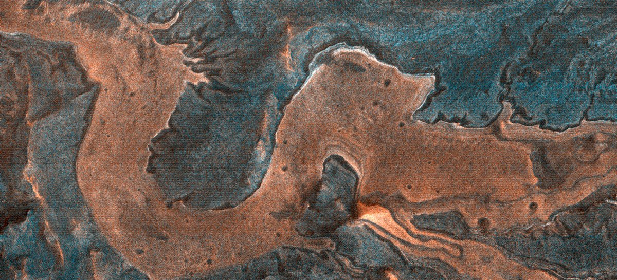 Marte possui um cânion em forma de dragão chinês, revela imagem da Nasa