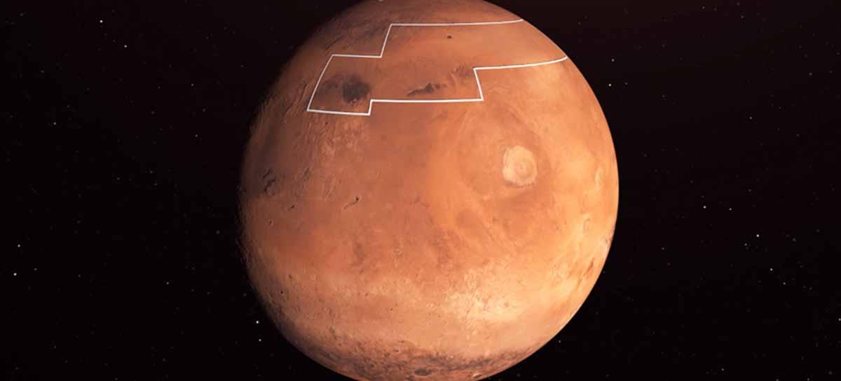 Nasa divulga mapa com locais onde água é acessível em Marte