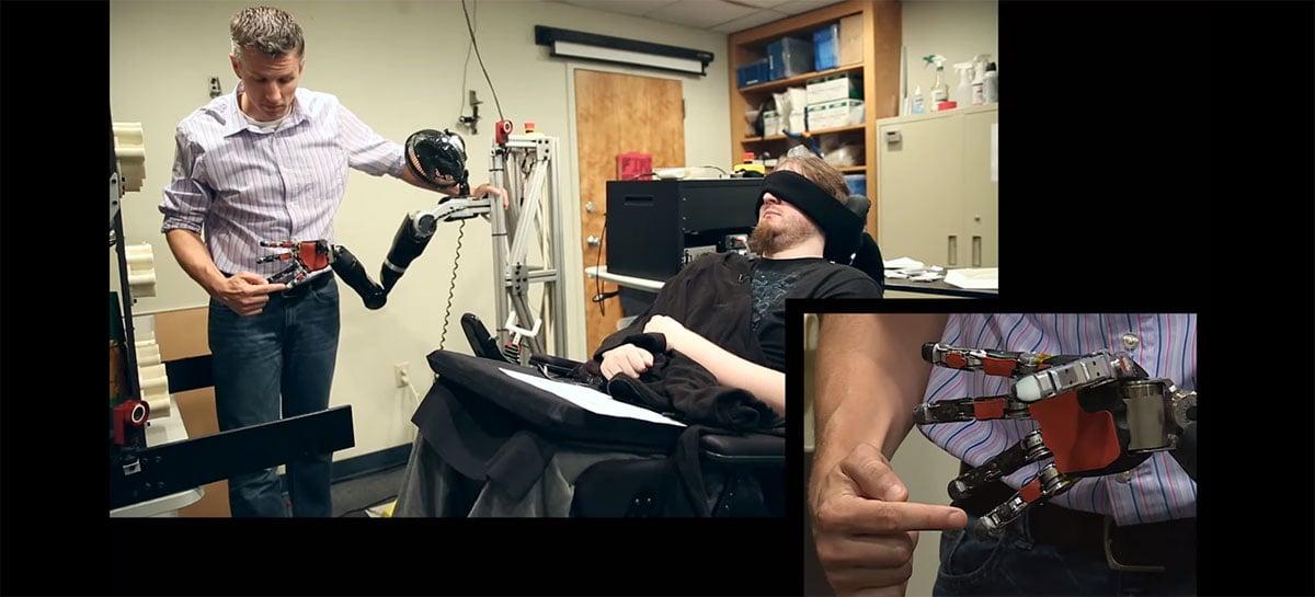 Cientistas conseguem trazer sensação de tato para braço robótico